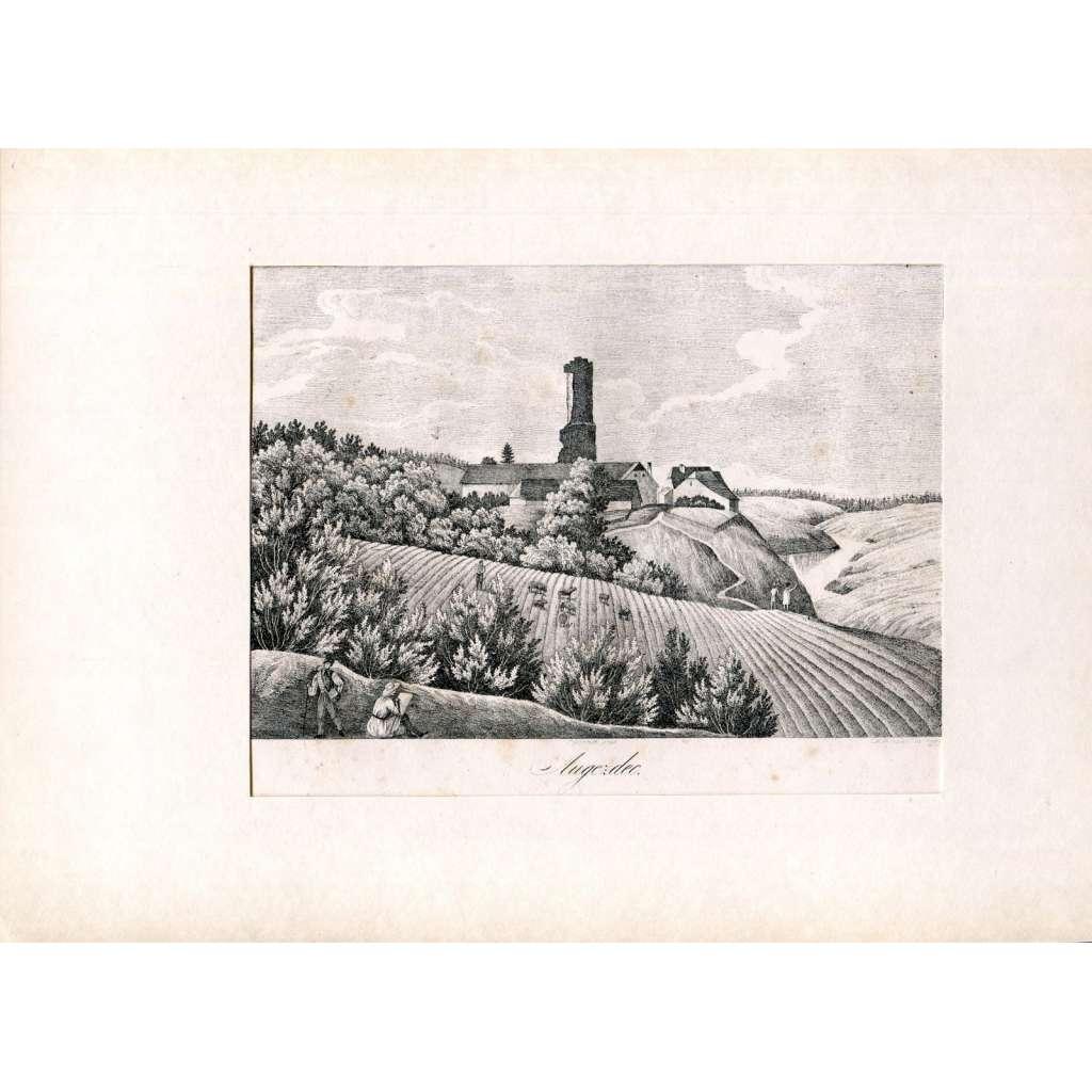 F. A. Heber – Hrad Újezdec (Augezdec), Albrechtice nad Vltavou, Písek (České hrady, zámky a tvrze)