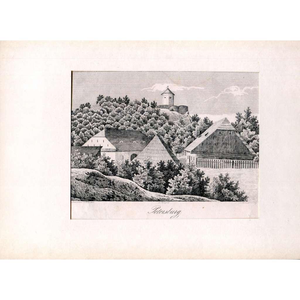 F. A. Heber – Hrad Petrohrad (Petersburg, Petršpurk), Louny (České hrady, zámky a tvrze)