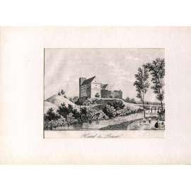 F. A. Heber – Hrad Buzice (Busic), Strakonice (České hrady, zámky a tvrze)