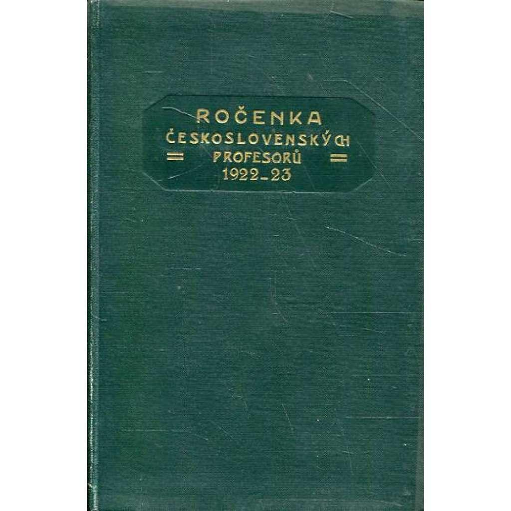 Ročenka čs. profesorů, 1922/23