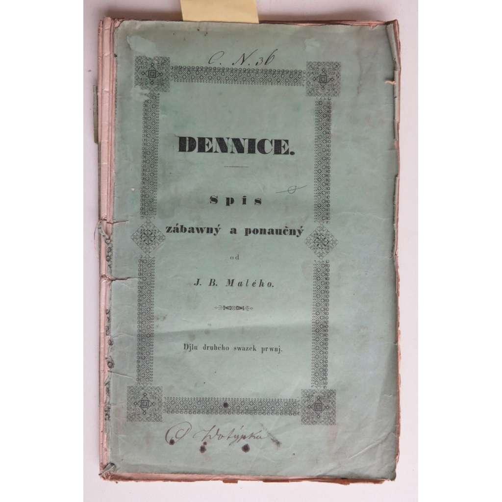 Dennice, Spis zábavný a ponaučný. 1840
