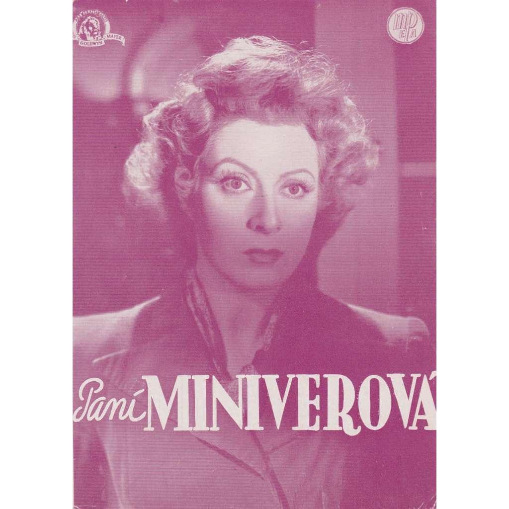 Paní Miniverová. Filmový prospekt z kina.