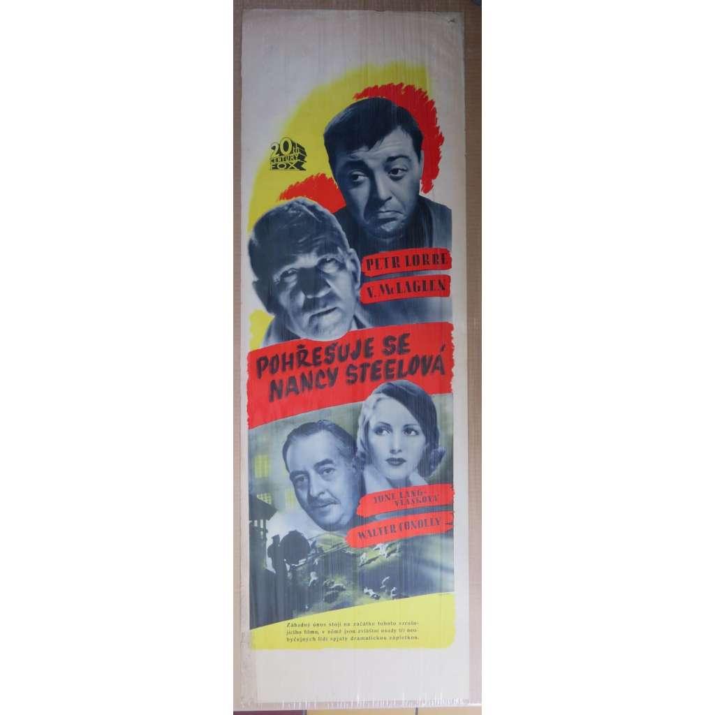 Pohřešuje se Nancy Steelová - film, filmový plakát (1937)