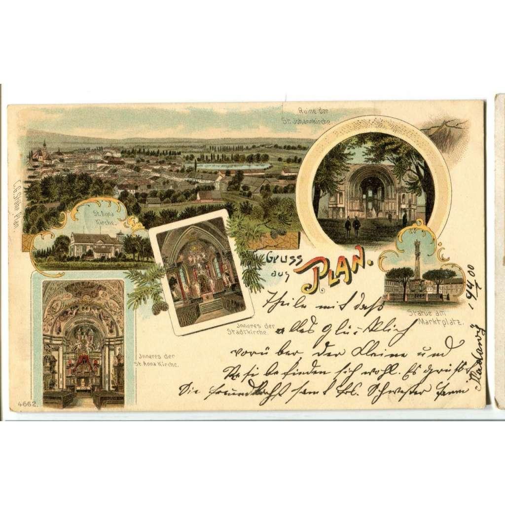 Planá, Mariánské Lázně, Tachov, Cheb,, litografie