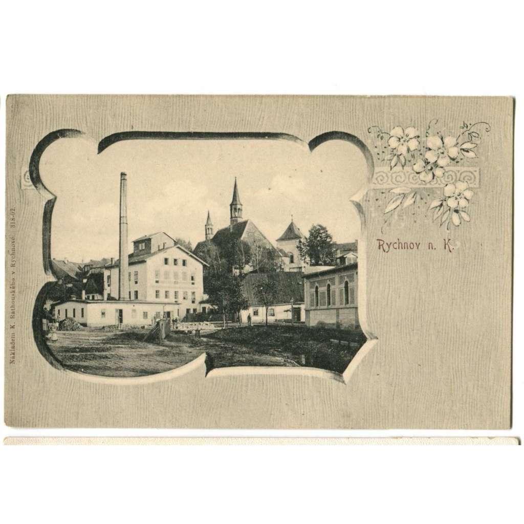 Rychnov nad Kněžnou, továrna, koláž