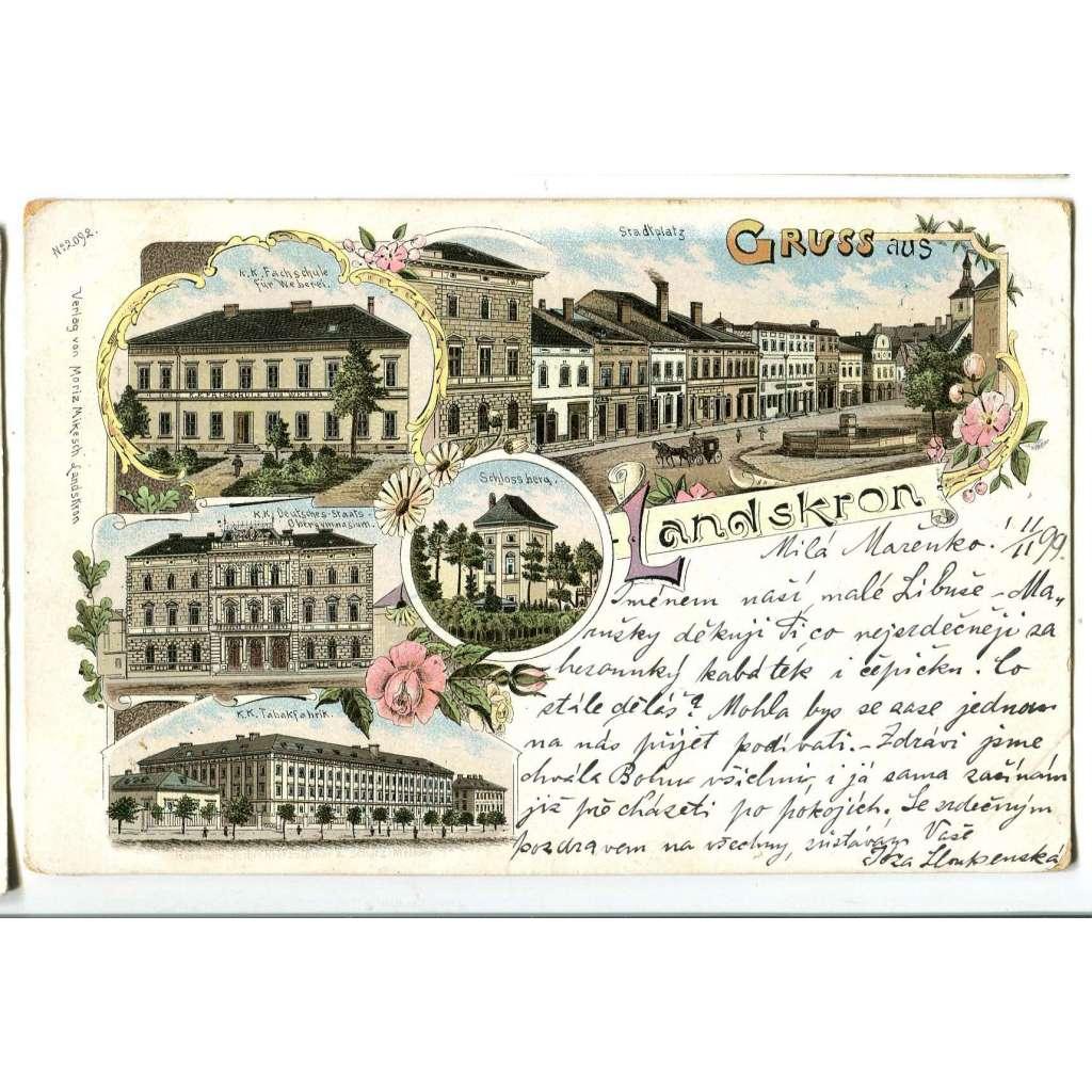 Lanškroun, Ústí nad Orlicí, litografie
