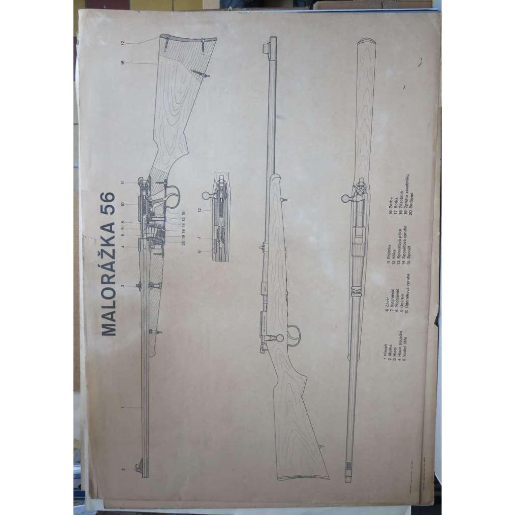 Malorážka vz. 56 - puška - školní plakát