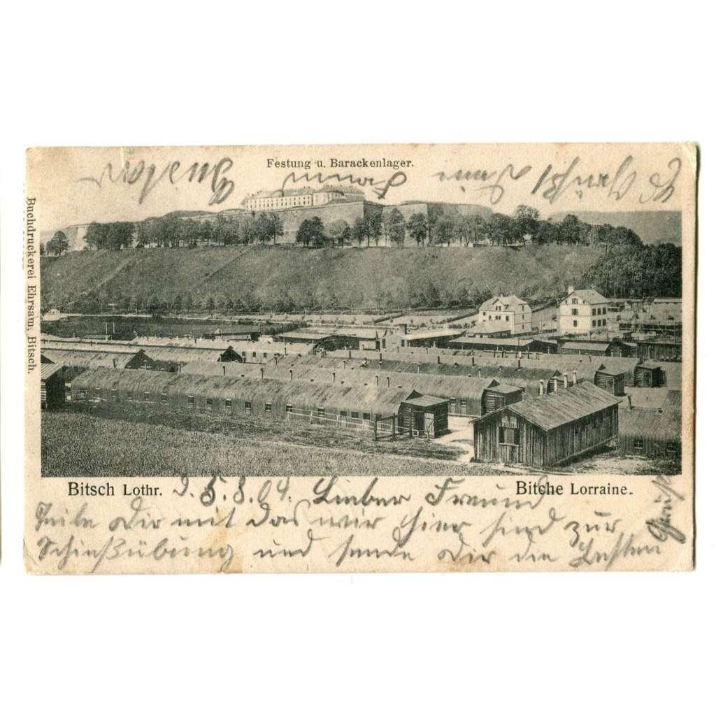 Bitsch Bitche, France - Deutschland, vojenský tábor, Lorraine, Lothringen Lotrinsko