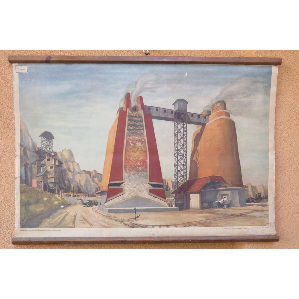 Vápenka - továrna - školní plakát