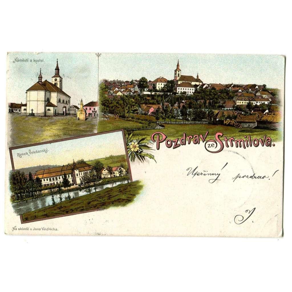 Strmilov, Jindřichův Hradec, litografie