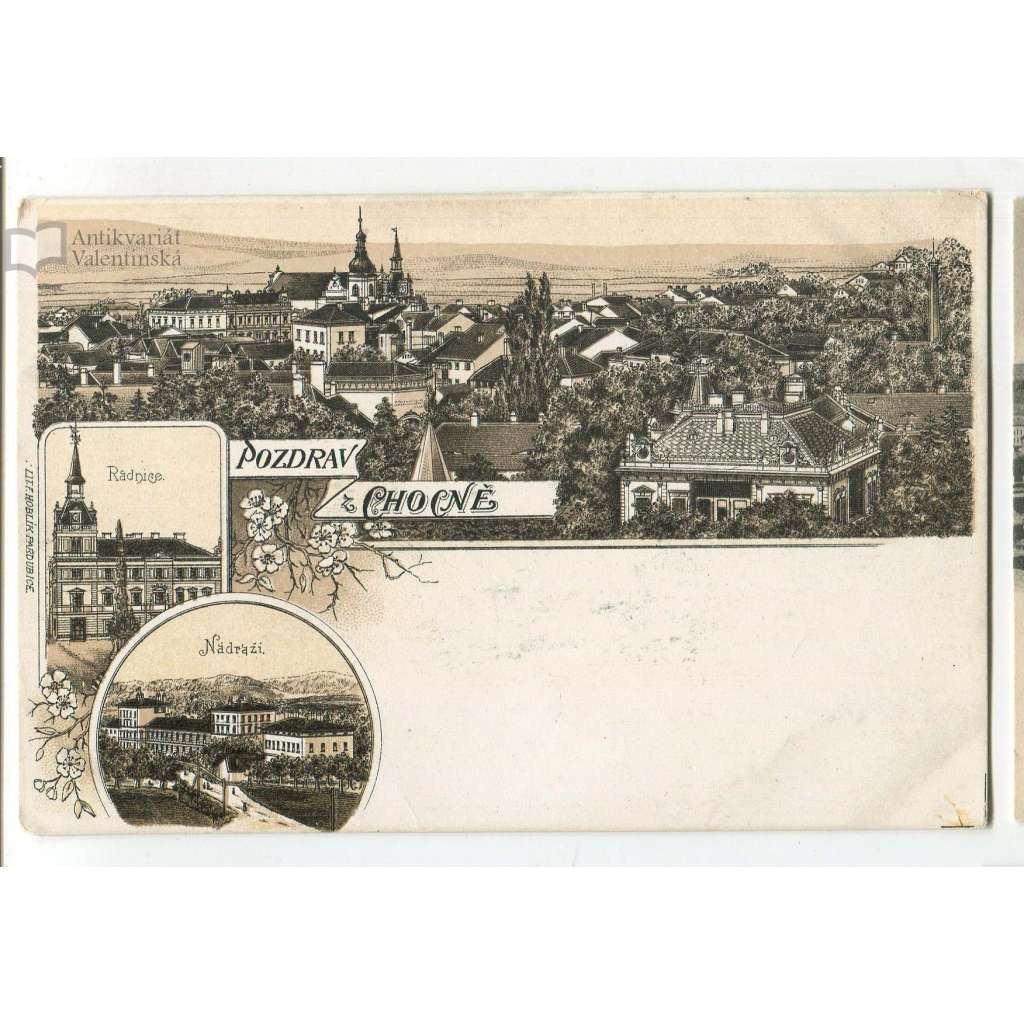 Choceň, Ústí nad Orlicí. litografie,