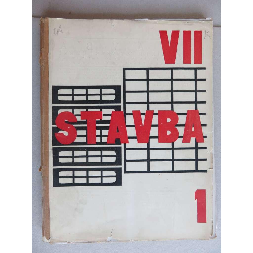 Stavba, měsíčník pro stavební umění, ročník VII., 1928-1929, (časopis - moderní architektura)
