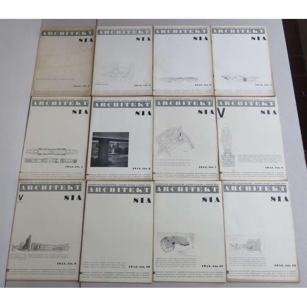 ARCHITEKT SIA. Časopis českých architektů, ročník XL (40), 1941 (časopis, moderní architektura) - SEŠITOVÉ VYDÁNÍ