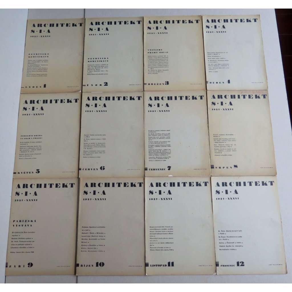 ARCHITEKT SIA. Časopis československých architektů, ročník XXXVI.(36), 1937 (časopis, moderní architektura) - SEŠITOVÉ VYDÁNÍ