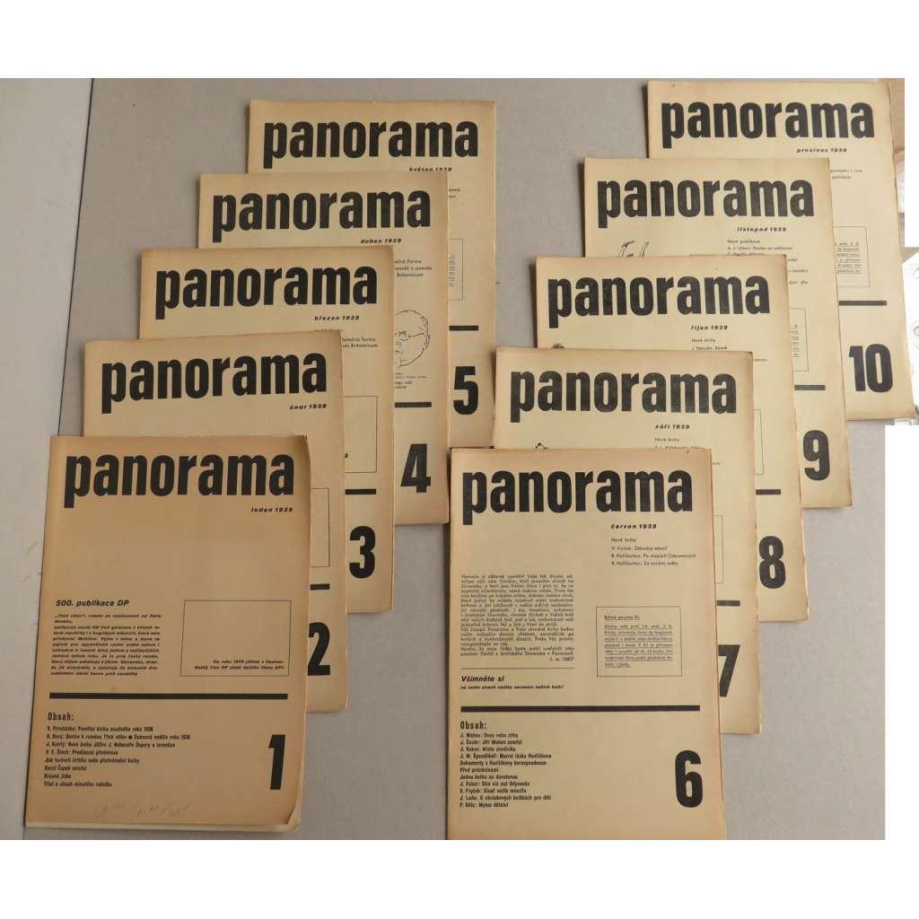 Panorama. Literární měsíčník nakl. Družstevní práce - 1939 (sešitové vyd. - typografie Ladislav Sutnar)