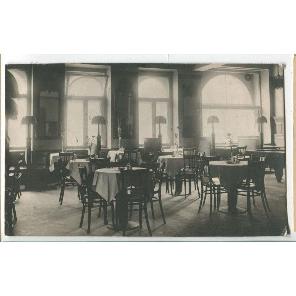 Louny, hotel Union, hospoda restaurace interiér