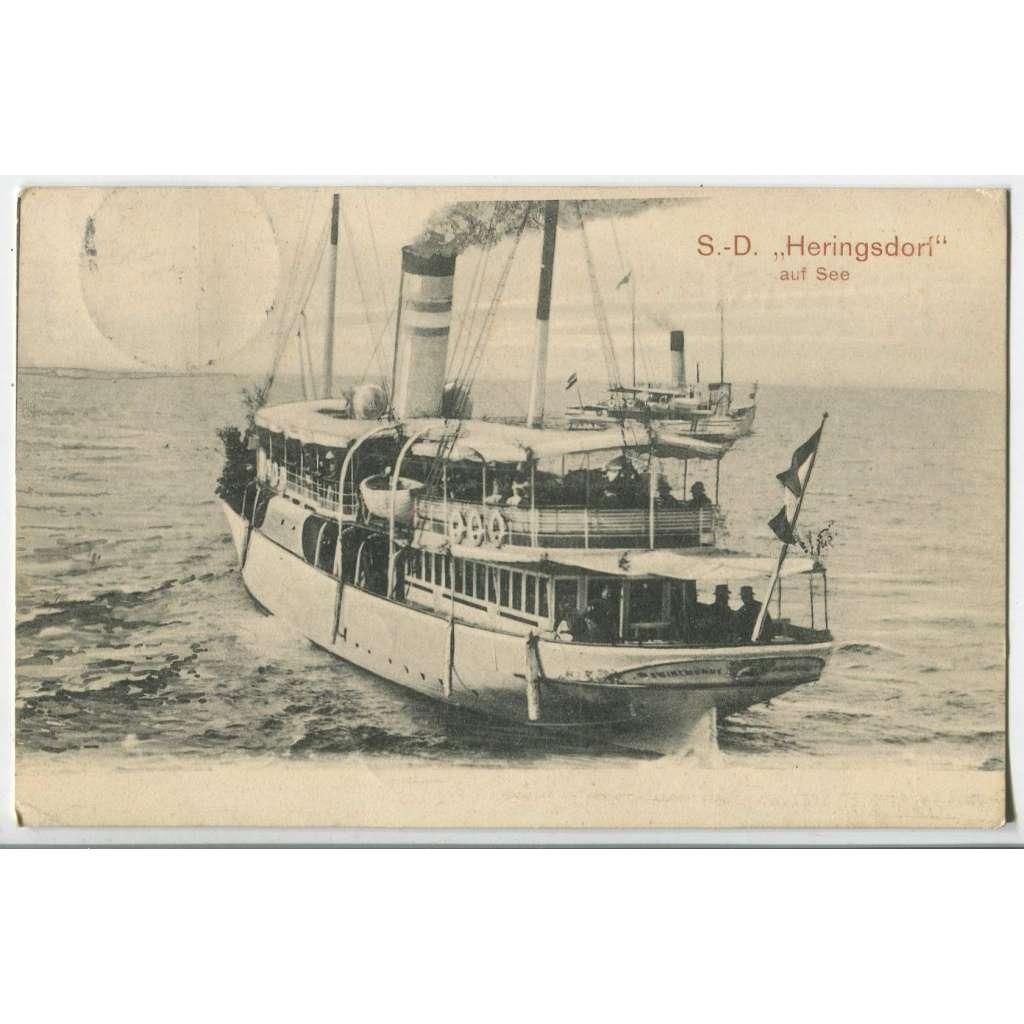 Loď parník Heringsdorf Schiff, Deutschland Německo
