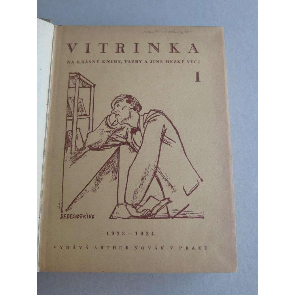 Vitrinka na krásné knihy, vazby a jiné hezké věci (časopis), roč. 1., 2. a 3. (1923/24, 1924/25, 1925/26)