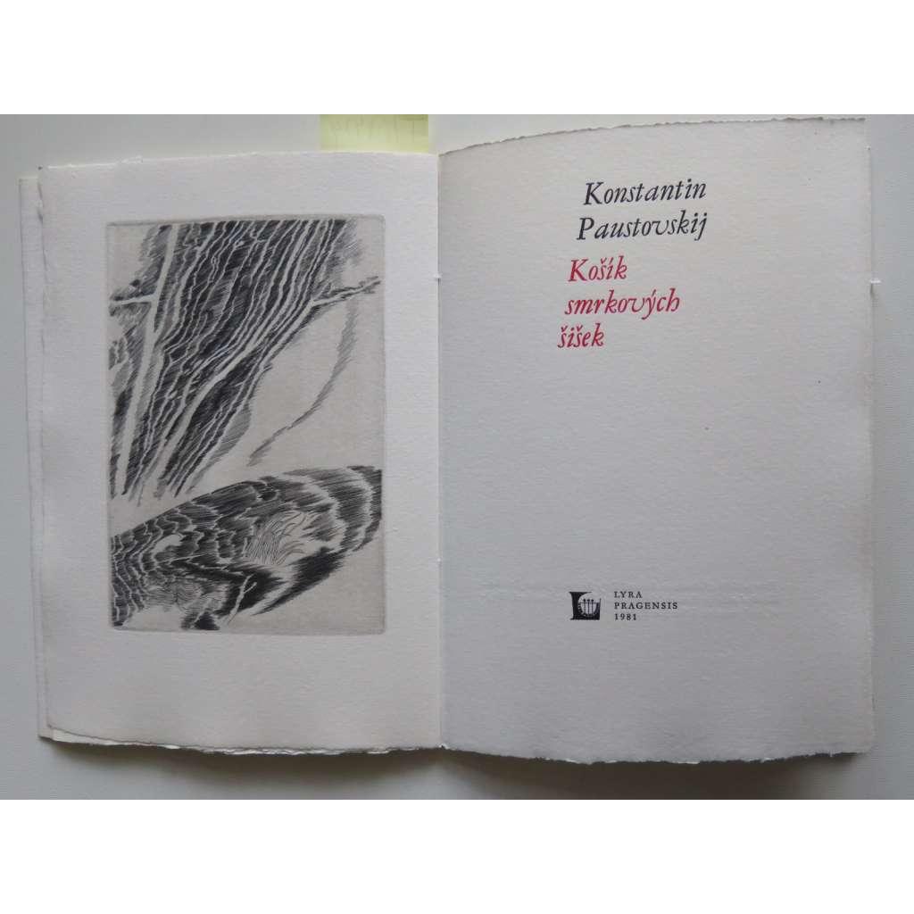 Košík smrkových šišek (4 x grafika Jaroslav Šerých) - Lyra Pragensis
