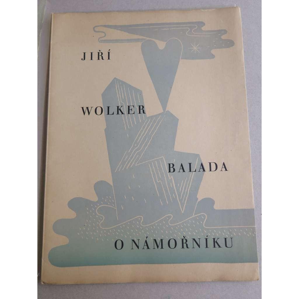 Balada o námořníku (3x dřevoryt Richard Lander -  skupina Linie)