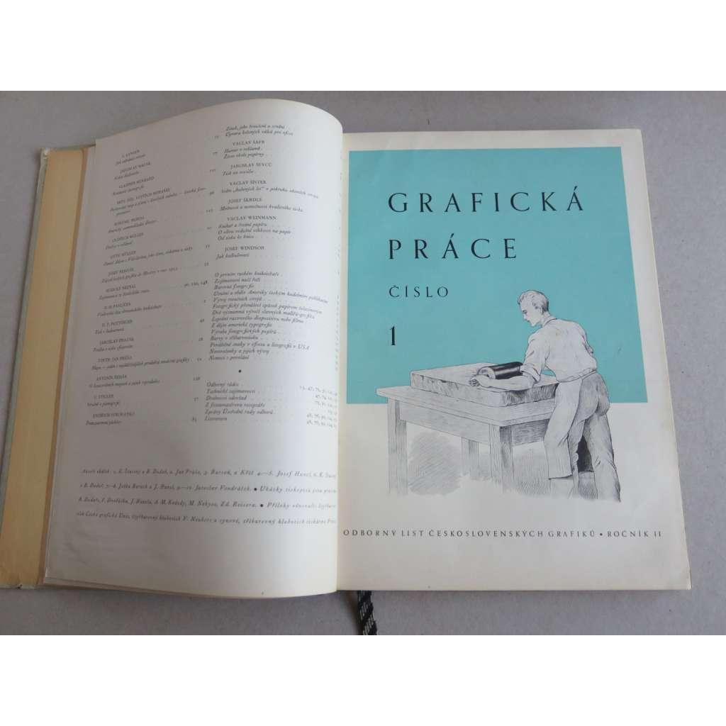 Grafická práce, ročník II., 1946 (Odborný list československých grafiků)