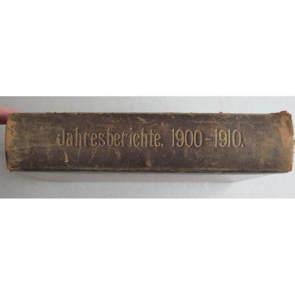 Gymnázium Most (Brux) - 11 x výroční zpráva (1874-1888). Jahresbericht des Communal-Obergymnasiums in Brüx (15 Hefte)