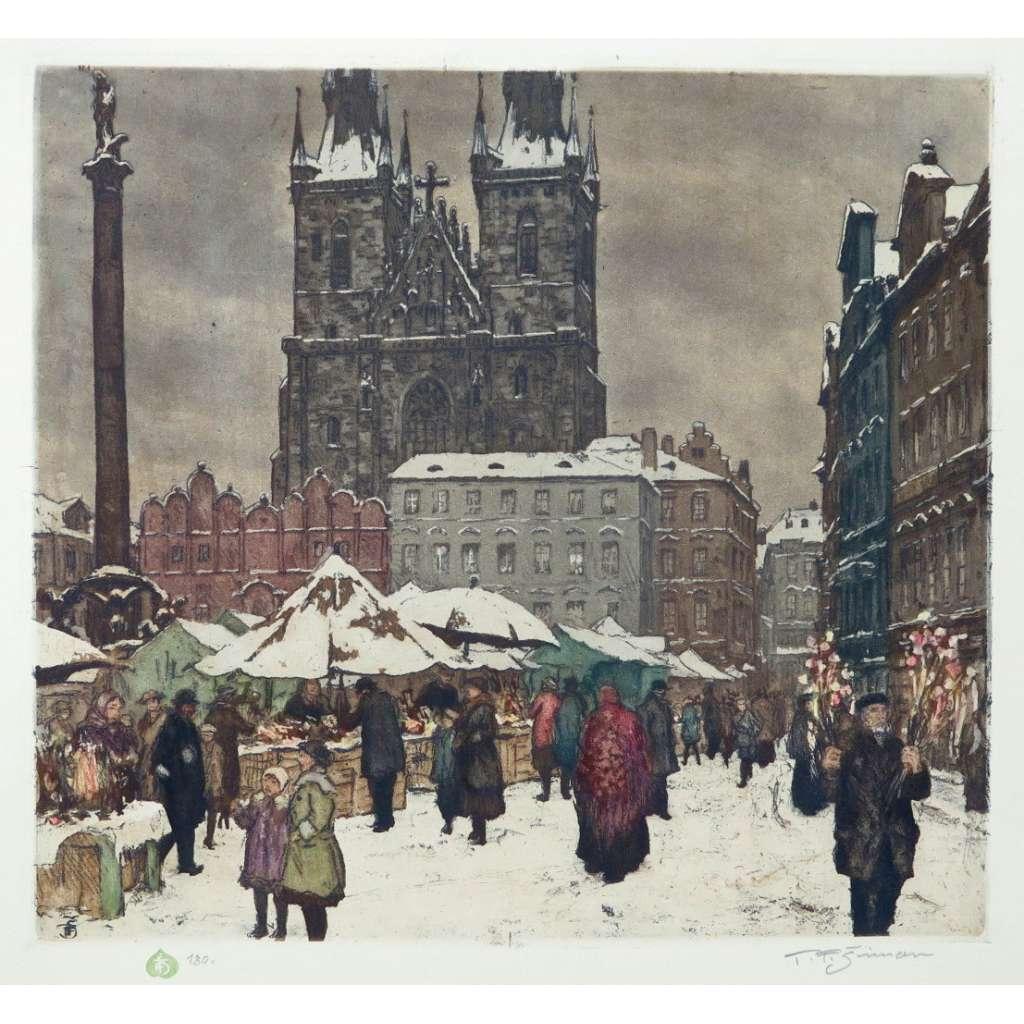 Mikulášský trh na Staroměstském náměstí v Praze