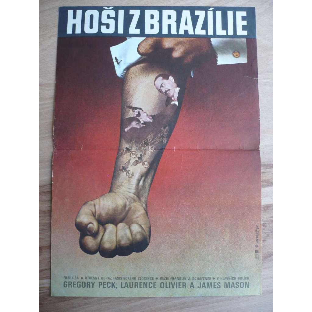 Hoši z Brazílie (filmový plakát, film USA 1978, režie Franklin J. Schaffner, Hrají: Gregory Peck, Laurence Olivier, James Mason)