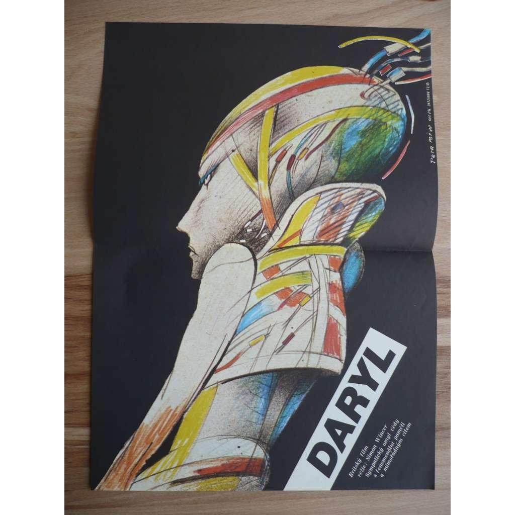 Daryl (filmový plakát, film Velká Británie 1985, režie Simon Wincer, Hrají: Barret Oliver, Mary Beth Hurt, Michael McKean)