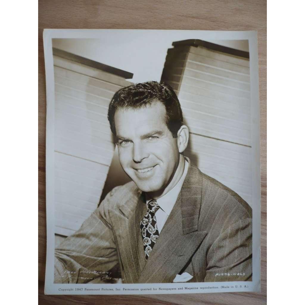 Fotoska - herec Fred Mac Murray - ORIG. CINEMA-PHOTO