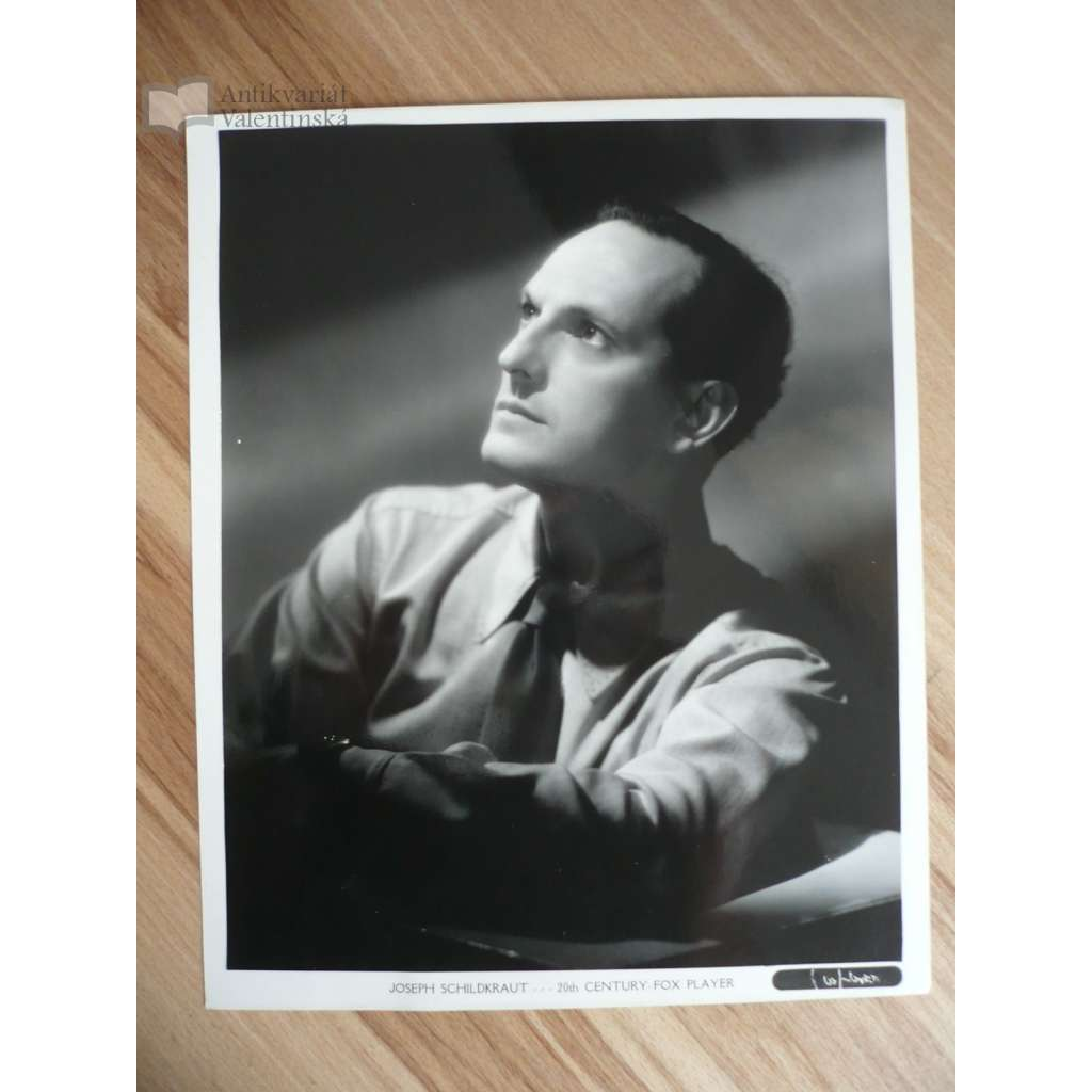 Fotoska - herec Joseph Schildkraut - ORIG. CINEMA-PHOTO