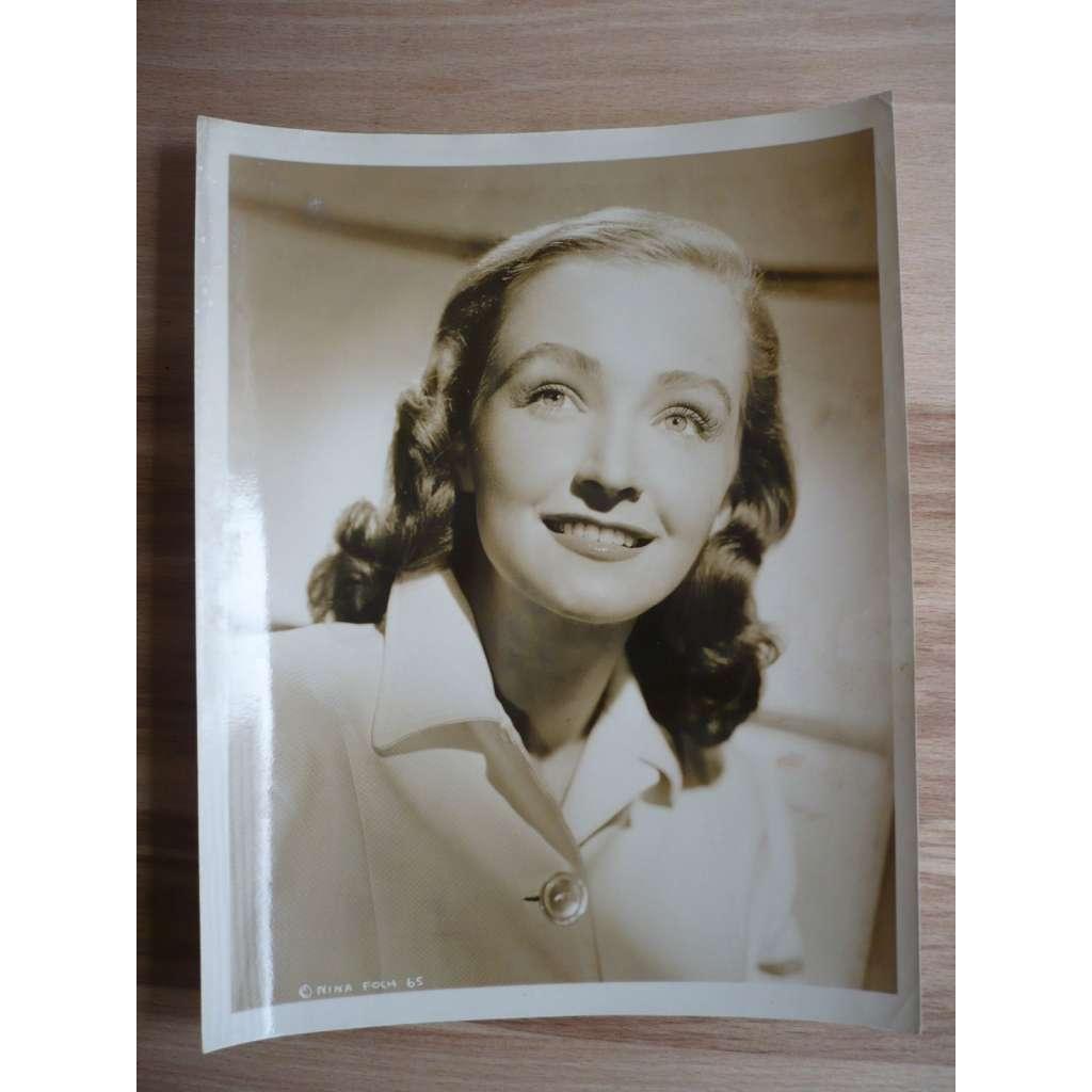 Fotoska - fotografie - filmová herečka Nina Foch - ORIG. CINEMA-PHOTO
