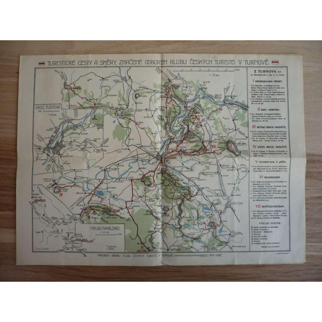 Turistická mapa - Turnov a okolí