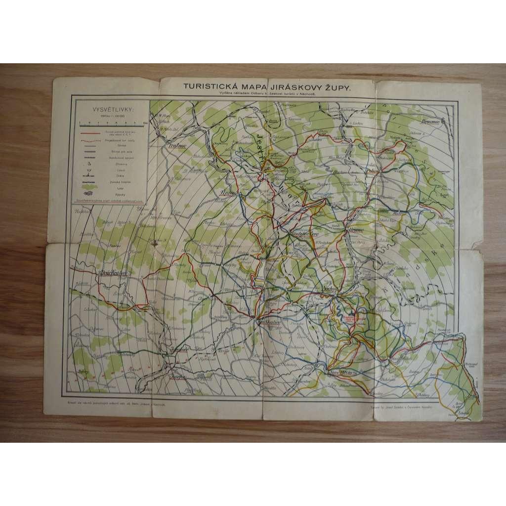 Turistická mapa - Jiráskova Župa