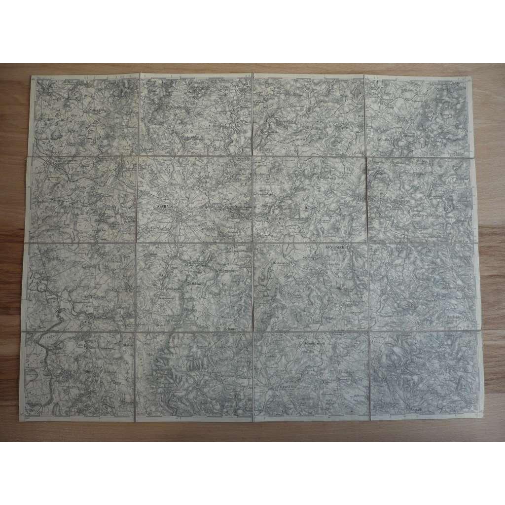 Mapa - Jindřichův Hradec a okolí