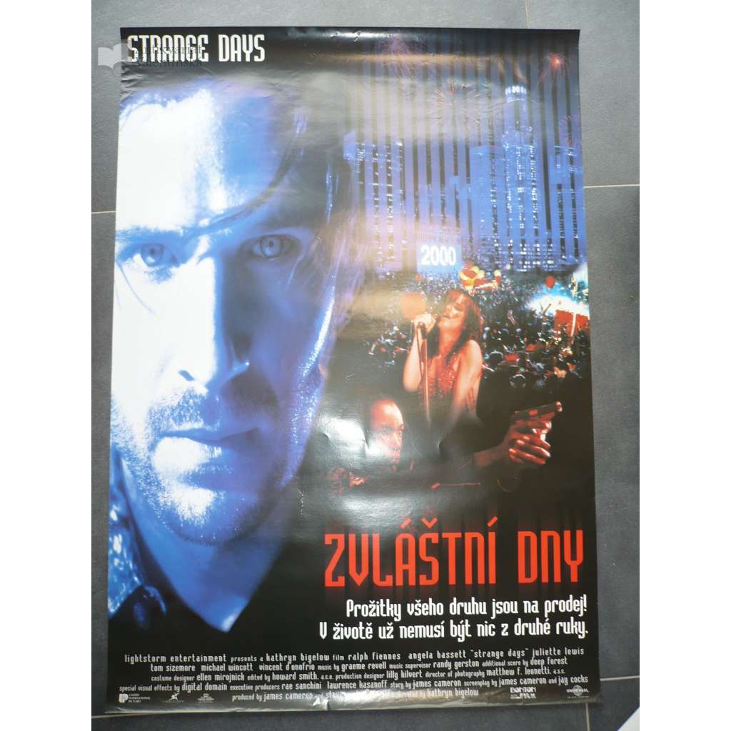 Zvláštní dny (filmový plakát, film USA 1995, režie Kathryn Bigelow, Hrají: Ralph Fiennes, Angela Bassett, Juliette Lewis)