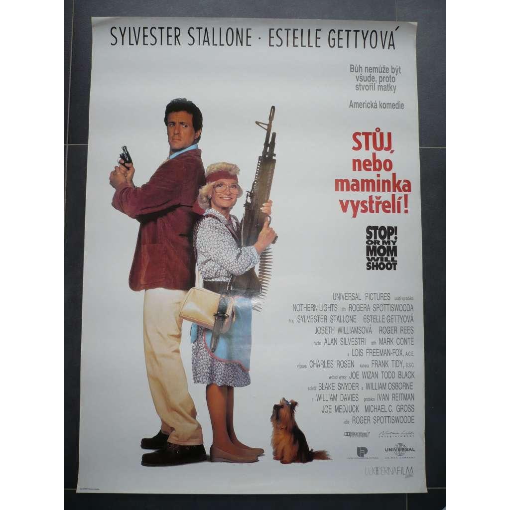 Stůj, nebo maminka vystřelí! (filmový plakát, film USA 1992, režie Roger Spottiswoode, Hrají: Sylvester Stallone, Estelle Getty, JoBeth Williams)