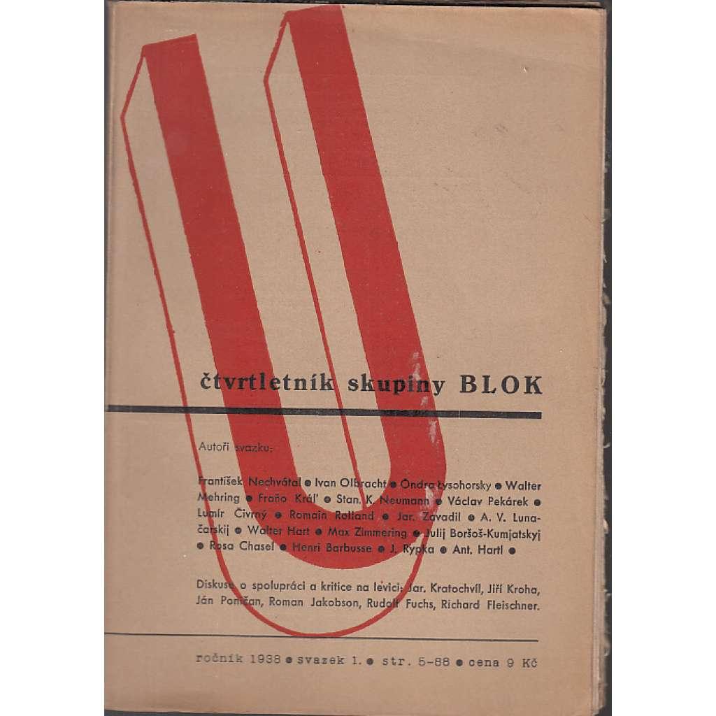 U – čtvrtletník skupiny Blok, ročník 1938 včetně 4. čísla