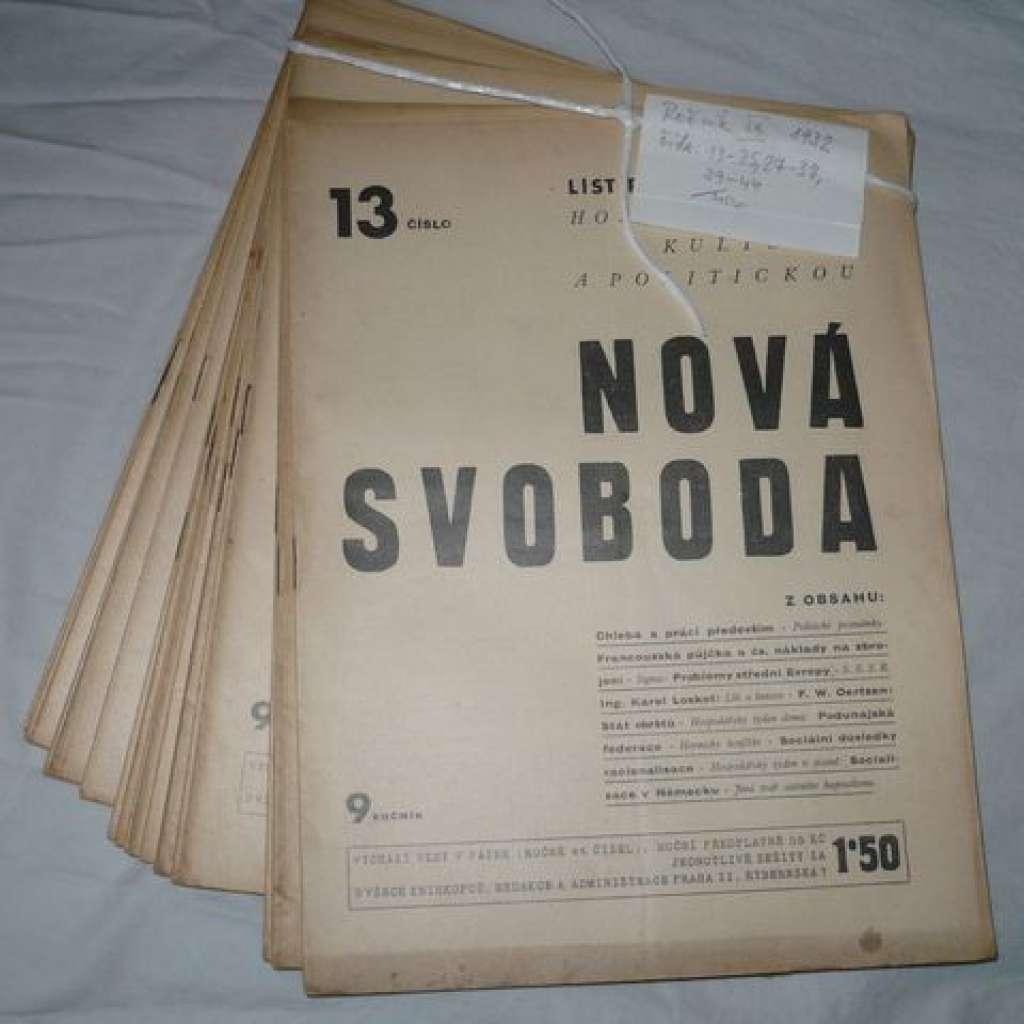 Nová svoboda. R.IX./1932