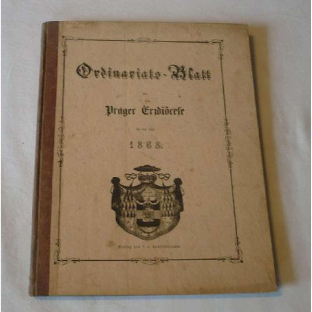 Ordinariátní list na rok 1868