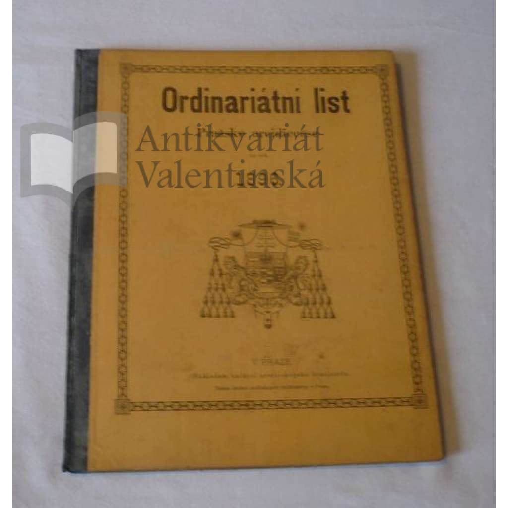 Ordinariátní list na rok 1896