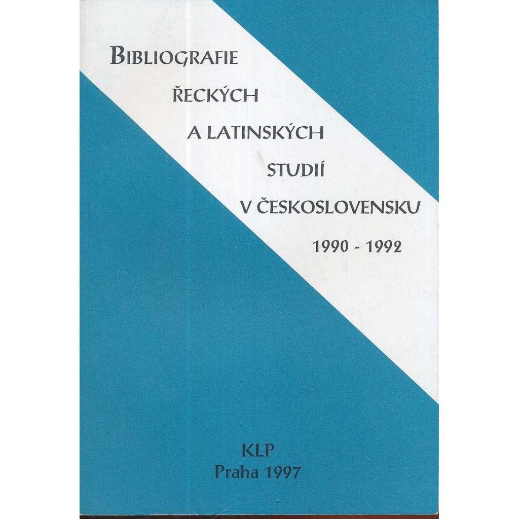 Bibliografie řeckých a latinských studií...