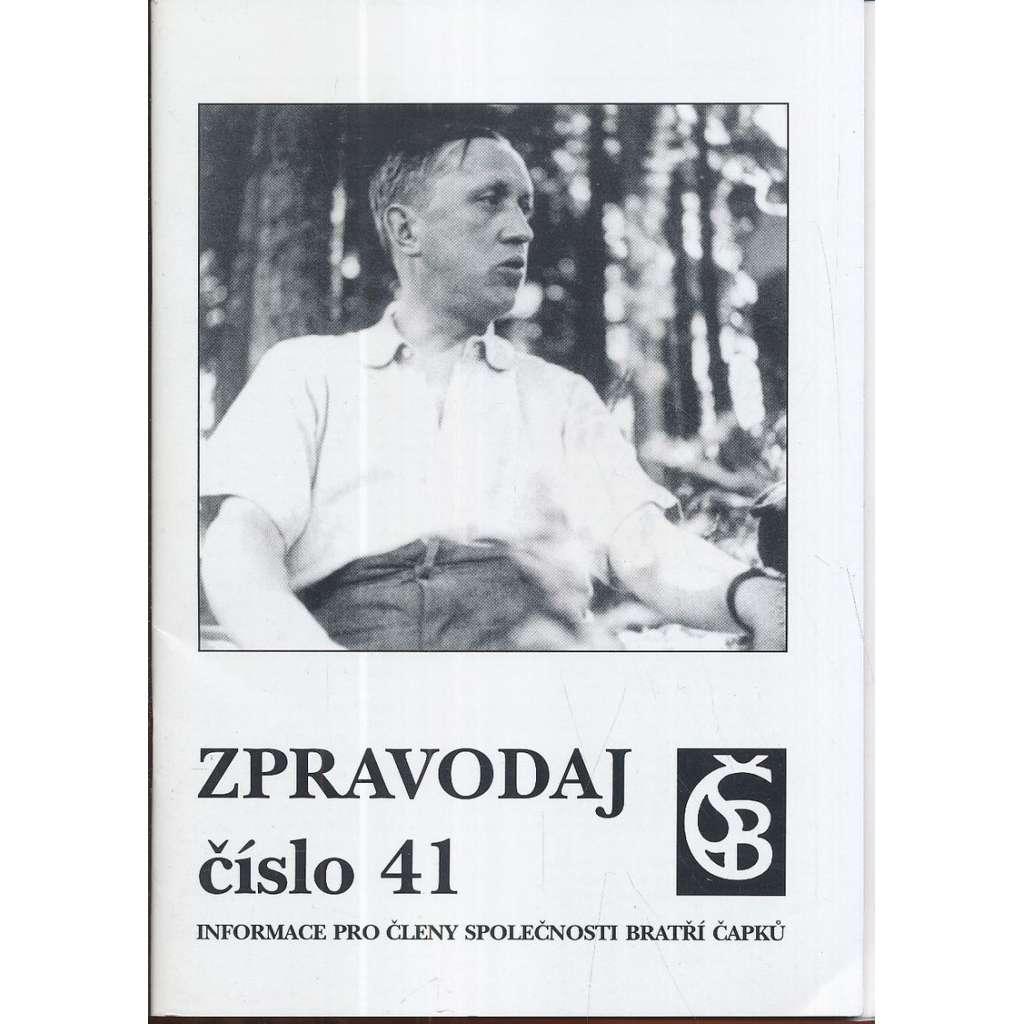 Společnost bratří Čapků:Zpravodaj 41/2002