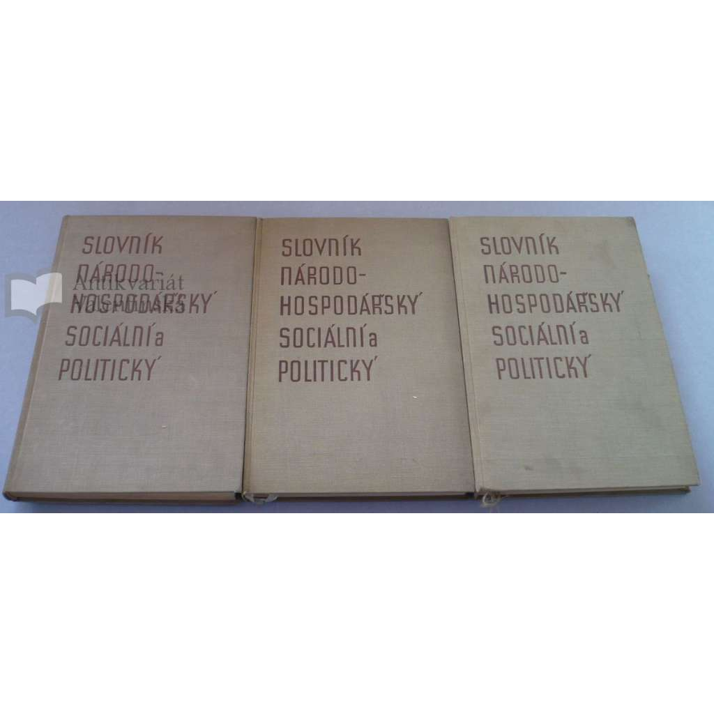 Slovník národohospodářský sociální a politický 1-3