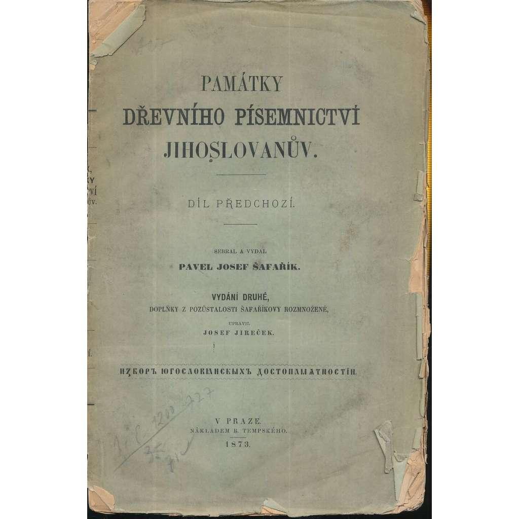 Památky dřevního písemnictví Jihoslovanův