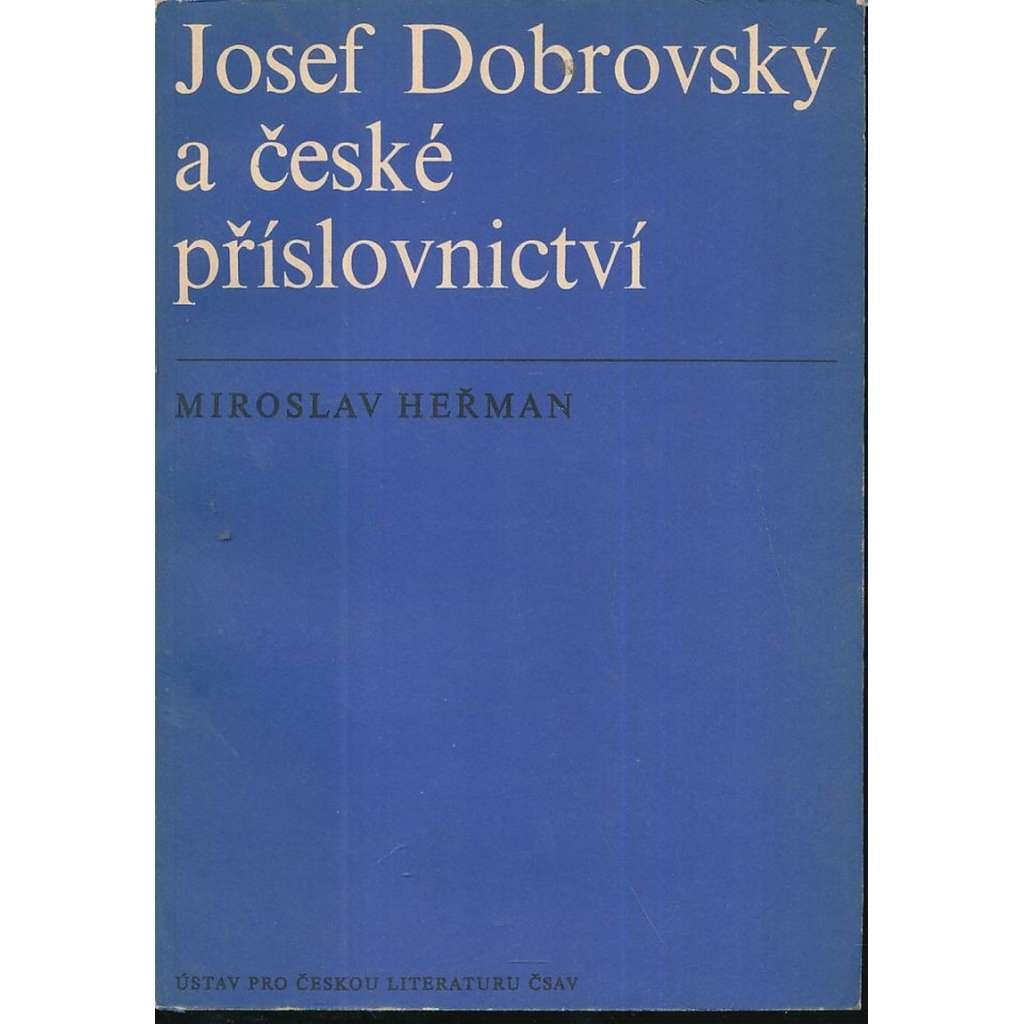 Josef Dobrovský a české příslovnictví