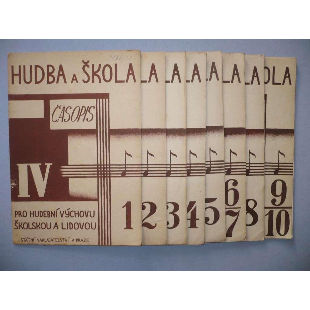 Hudba a škola 1931-32/č.1-10