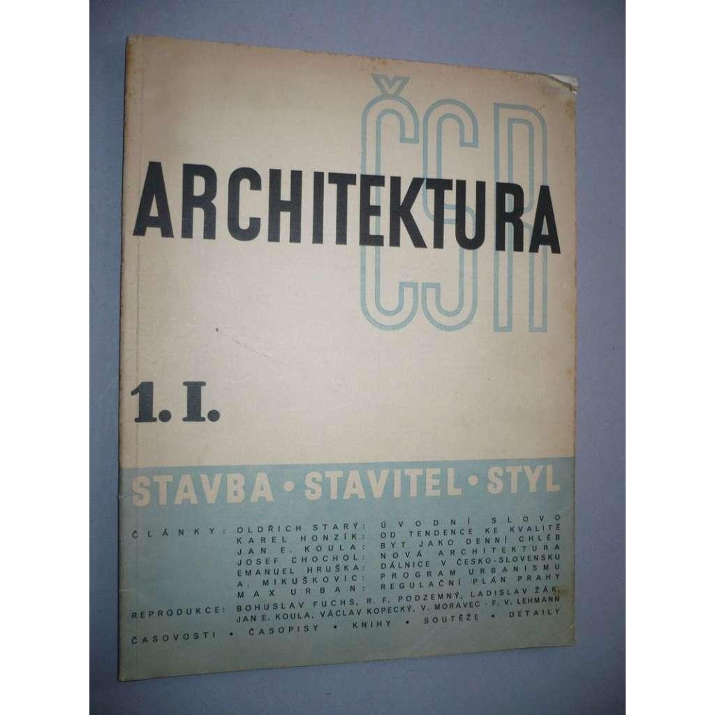 Architektura 1 / I. (1939)