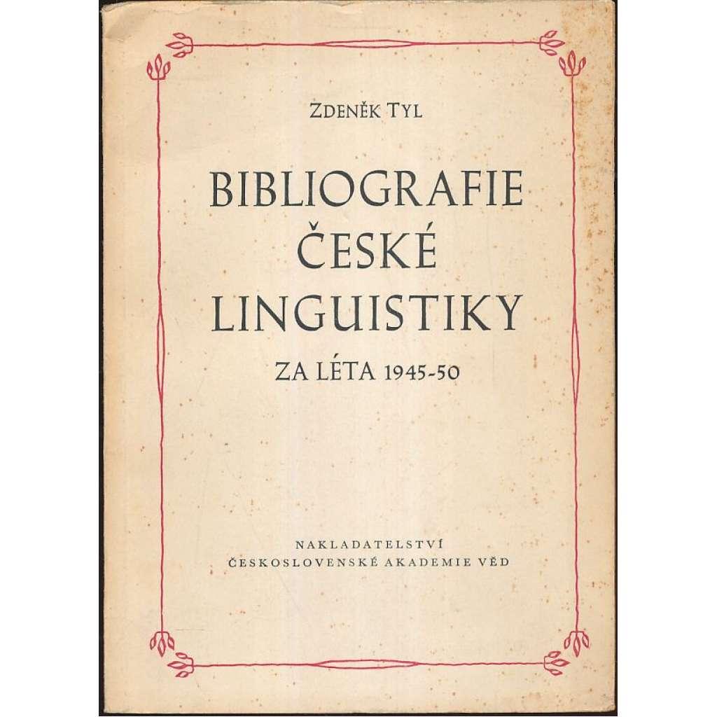 Bibliografie české linguistiky za léta 1945-50