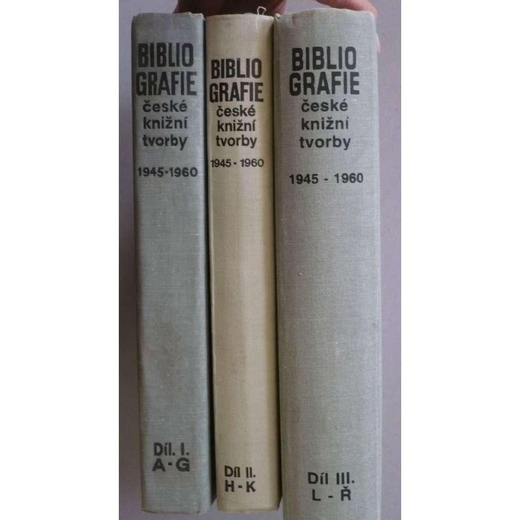 Bibliografie české knižní tvorby 1945-1960, 3 svazky
